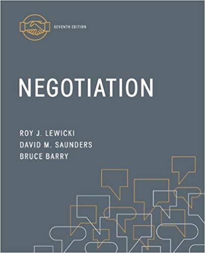 Negotiation, Roy J. Lewicki